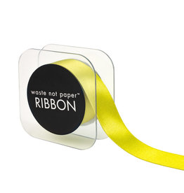 "Waste Not Paper CHARTREUSE 1"" RIBBON"