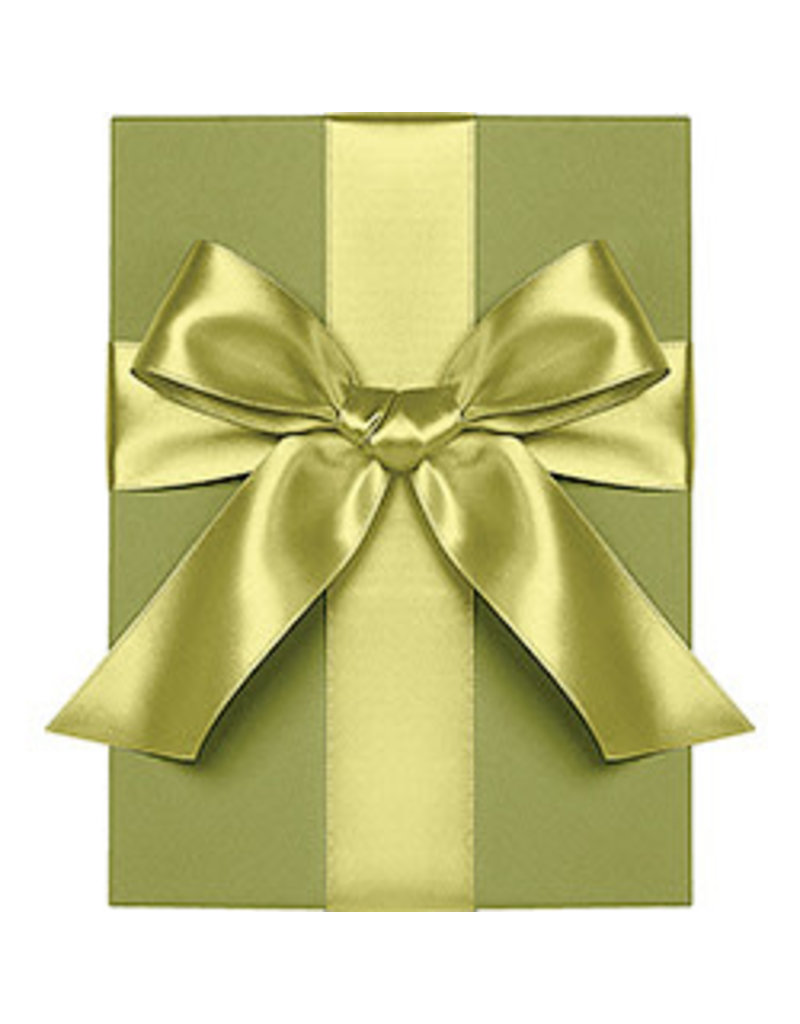 """Waste Not Paper chartreuse ribbon 1"""""""