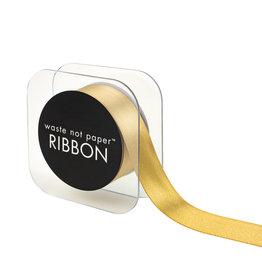 "Waste Not Paper Vintage gold ribbon 1"""