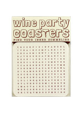 Hat + Wig + Glove Wine Party Word Search Coasters