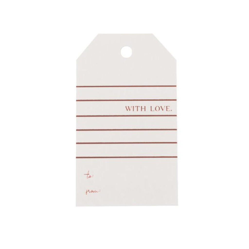 Wrinkle & Crease With Love gift tag Rose & Gray
