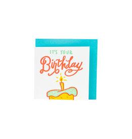 Ladyfingers Letterpress Tiny Birthday Letterpress enclosure