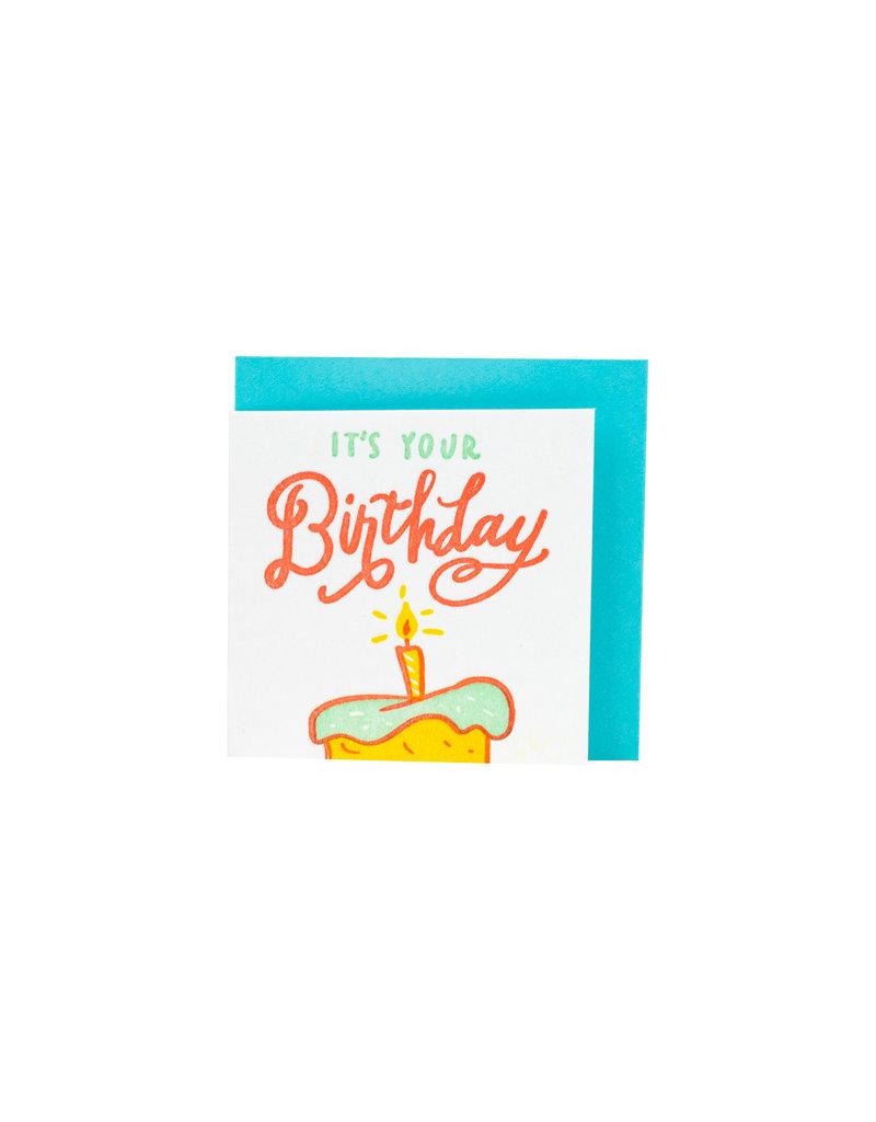 Ladyfingers Letterpress Tiny Birthday enclsoure