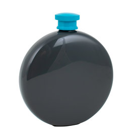 Lund London Round Hip Flask Dark Grey & blue