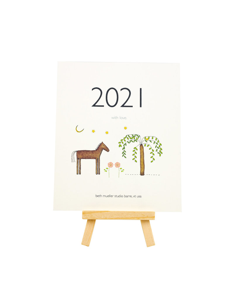 Beth Mueller 2021 desk calendar