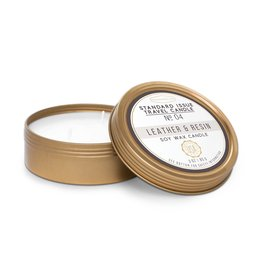 Designworks Leather and Resin Travel Candle