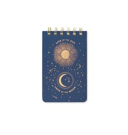 "Designworks ""Live By The Sun"" Wire Notepad - Midnight Blue"