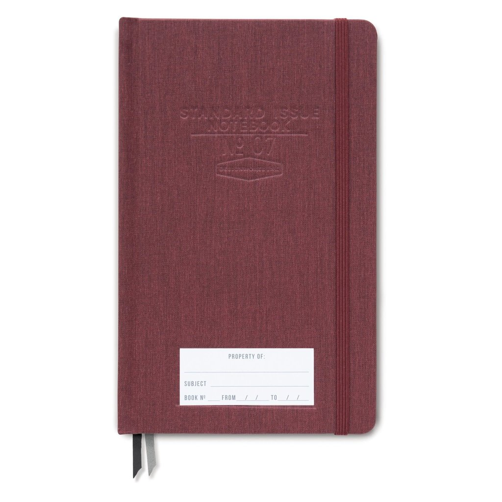 Designworks Standard Issue No.7 Burgundy Dot Grid