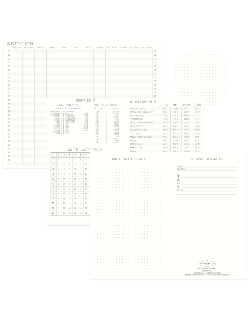 Designworks Standard Issue No.7 Blue Dot Grid