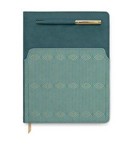 Designworks Teal Vegan Leather Journal with Pocket