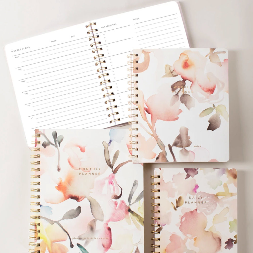 Fringe Non-dated Watercolor Weekly Planner