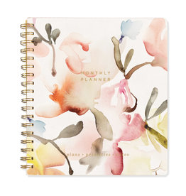 Fringe Non-dated Watercolor Monthly Planner