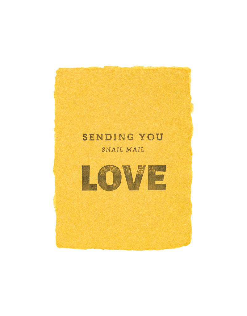 Paper Baristas Sending Snail Mail Love