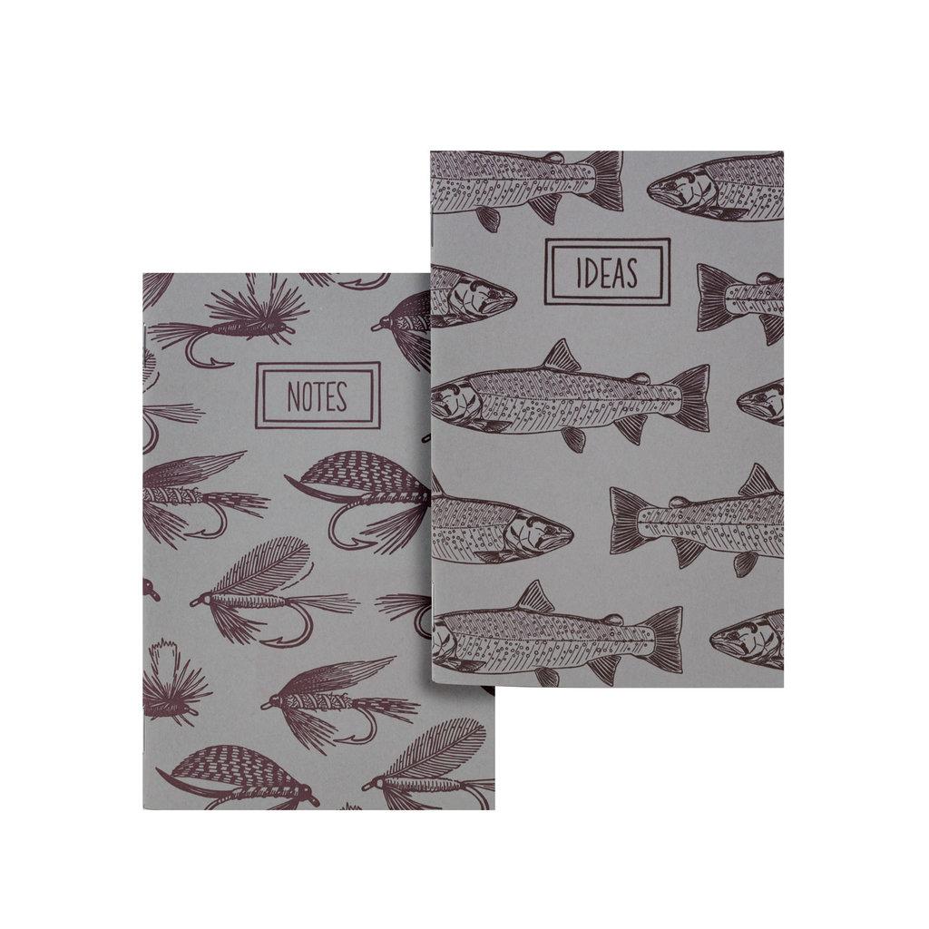 Noteworthy Fishing Flies & Trout Pocket Notebooks, Set of 2 Notebooks