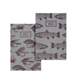 Noteworthy Fishing Flies & Trout Pocket Notebooks, Set of 2 Notebooks