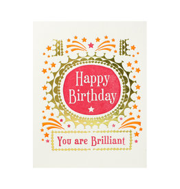 Ilee Papergoods You're Brilliant Letterpress Card