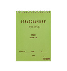 Stenographer's Notebook Green