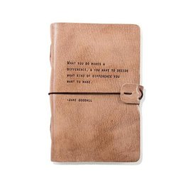 Artisan Leather Journal - Goodall quote