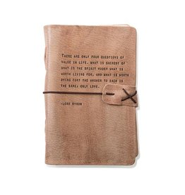 Artisan Leather Journal - Lord Byron quote