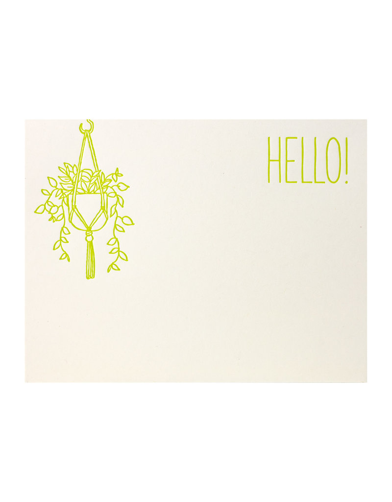 Fugu Fugu Press Hello Hanging Plant Single Flat