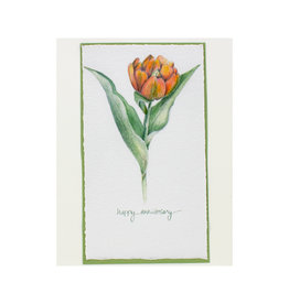 Grace Watercolors Tulip Happy Anniversary