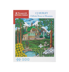 Pomegranate CJ Hurley: Cliffside House in Mountains Puzzle 500 pc