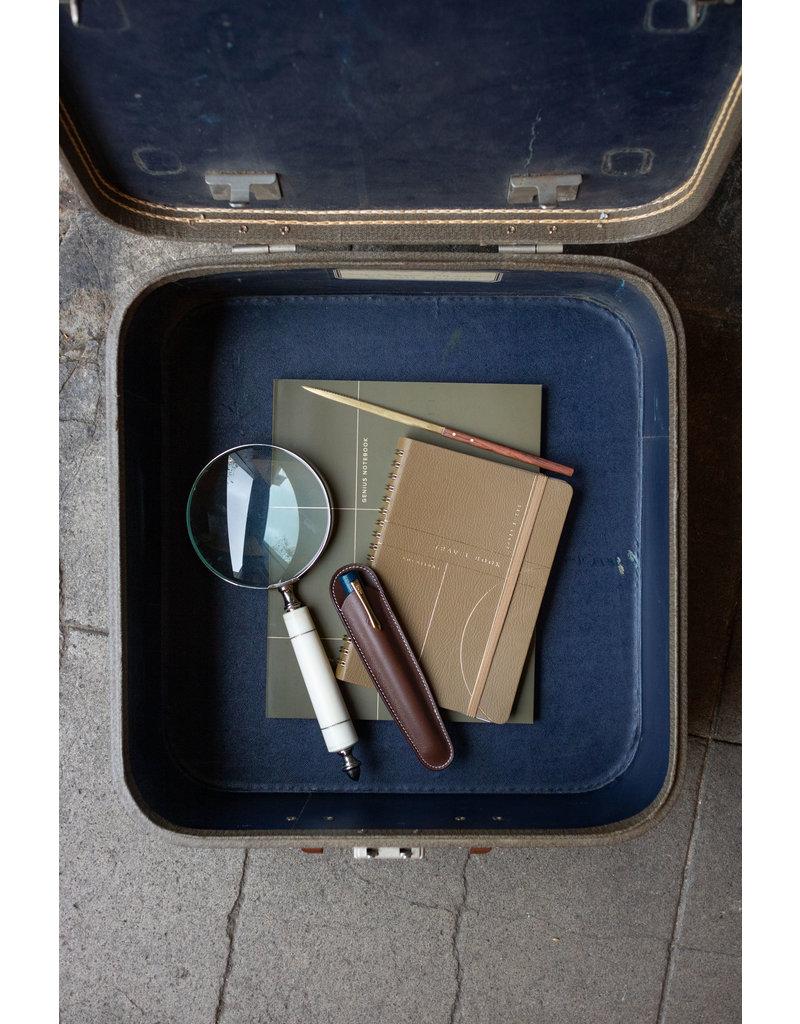 Recife Sand Leather Pen Case