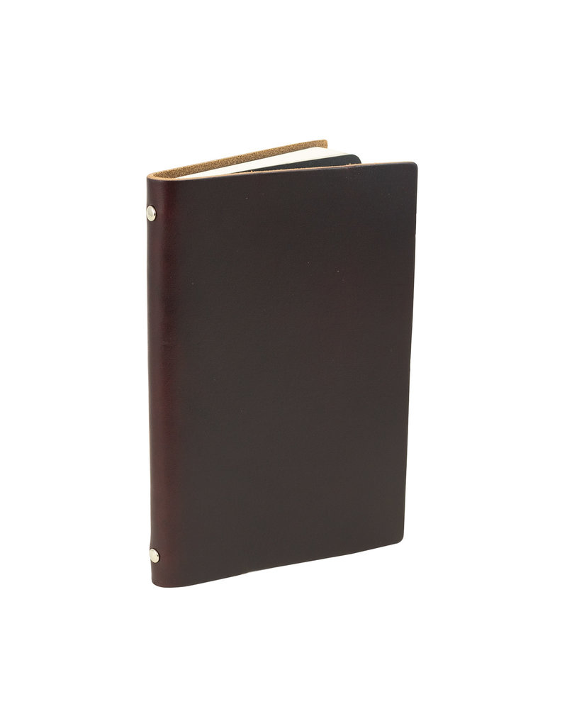 Goby Design Leather Pocket Notebook - Burgundy