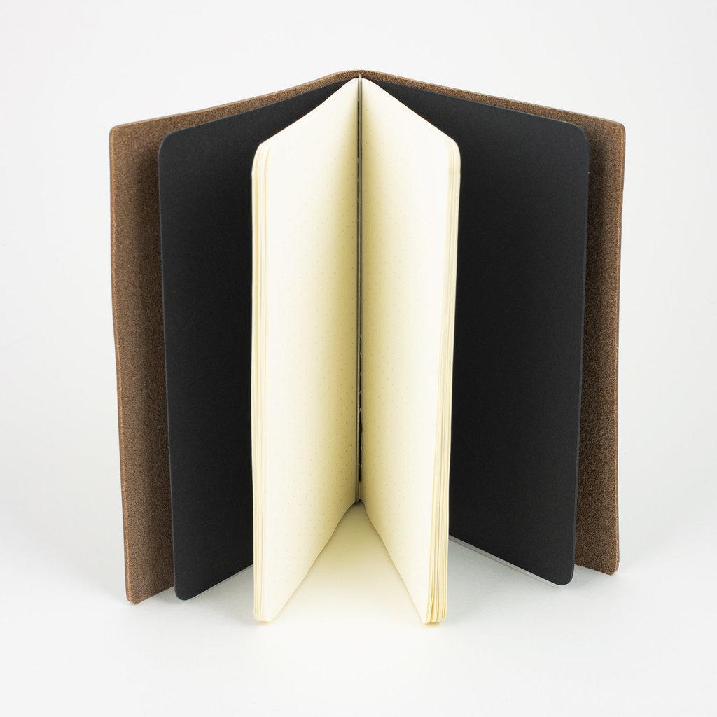 Goby Design Leather Pocket Notebook - Burgundy