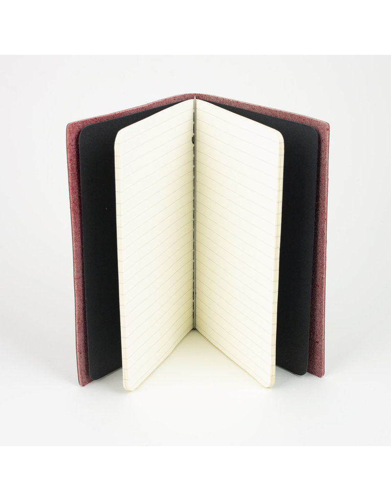 Goby Design Leather Pocket Notebook - Blood Red