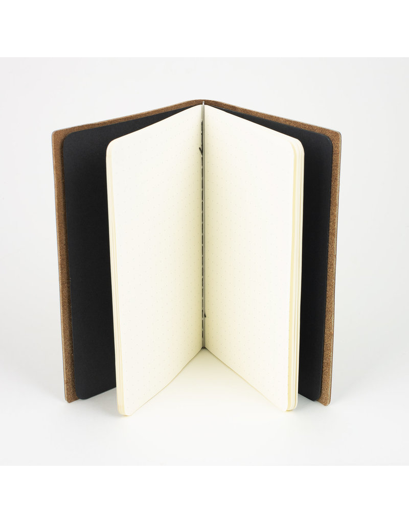 Goby Design Leather Pocket Notebook - Pecan