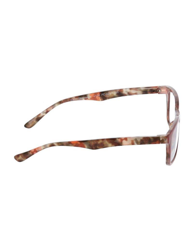 Peepers Stonework - Red Eyeglasses +2.25
