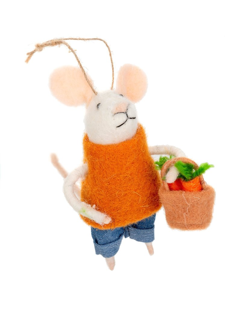 Indaba Farmers Market Finn Mouse Ornament
