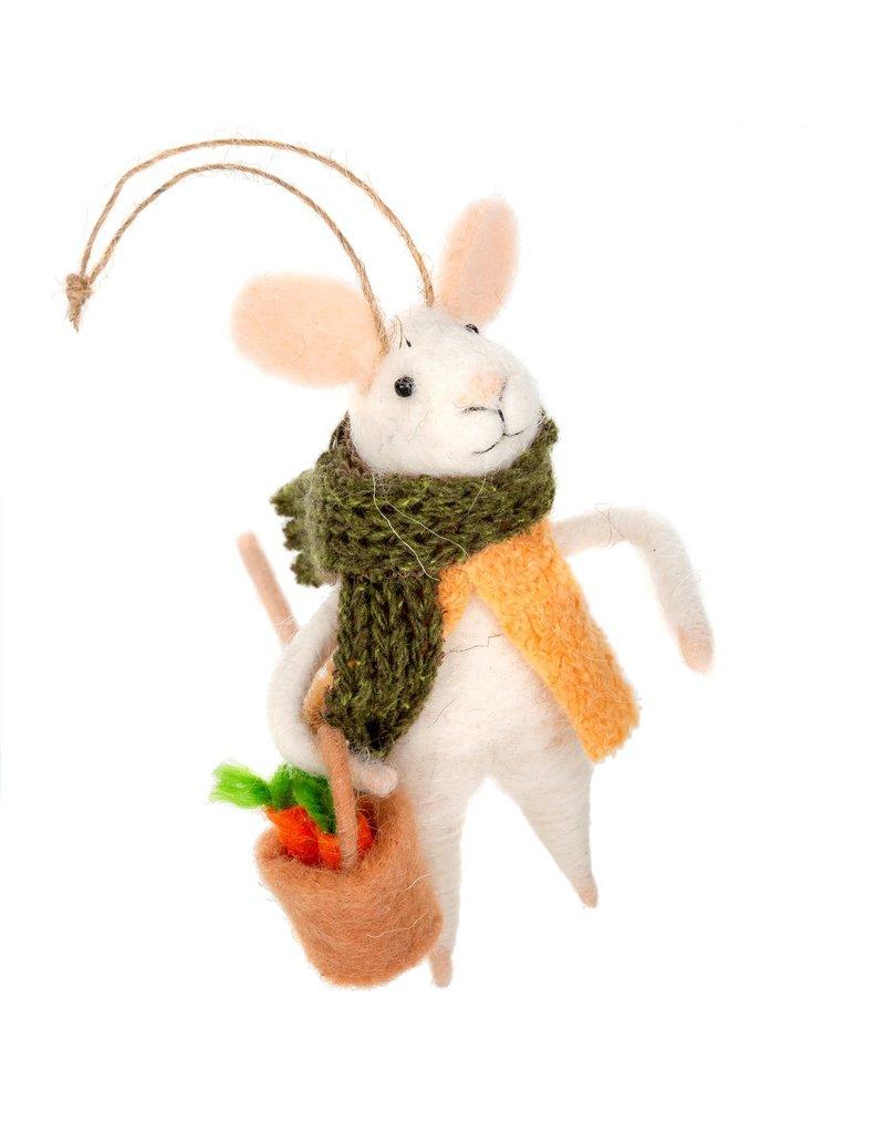 Indaba Farmers Market Fiona Mouse Ornament