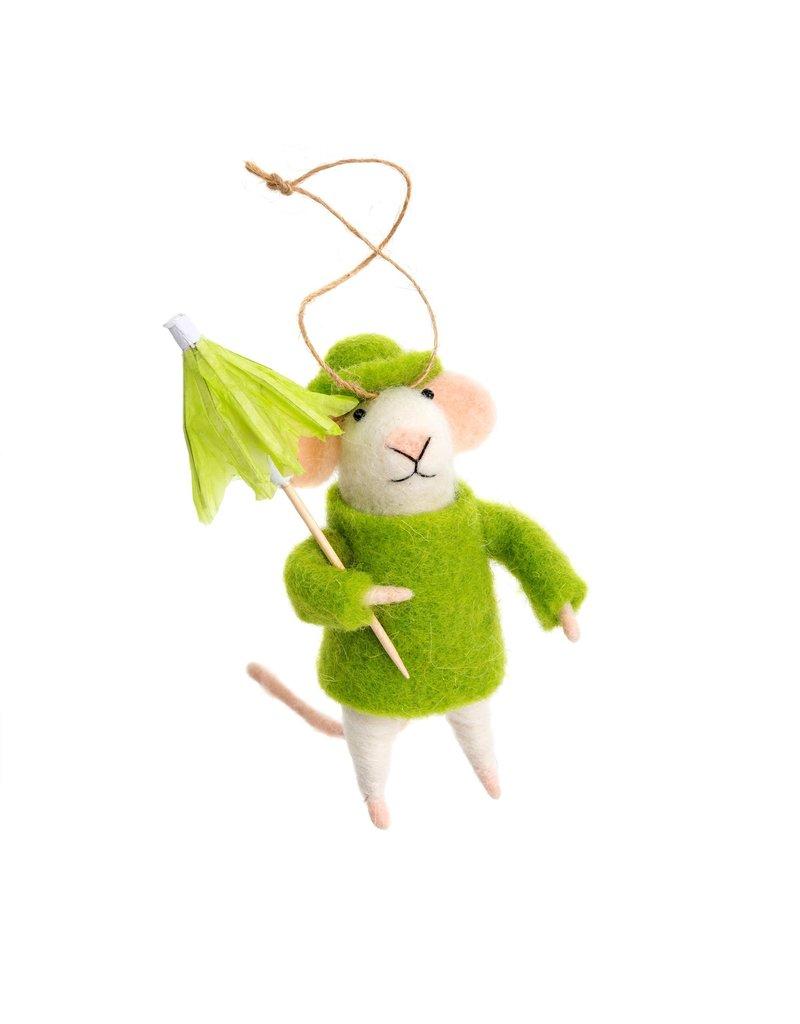 Indaba Rainy Day Roland Mouse Ornament