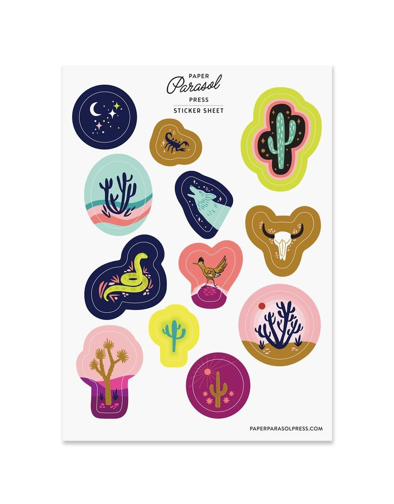Paper Parasol Press Desert Sticker Sheet