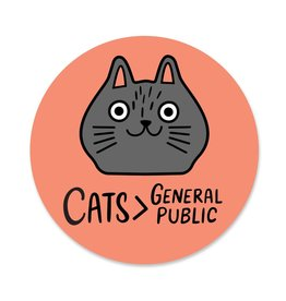 Paper Parasol Press Cats>General Public Sticker