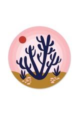 Paper Parasol Press Pink Sky Desert Sticker