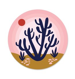 Paper Parasol Press Pink Sky Desert Sticker