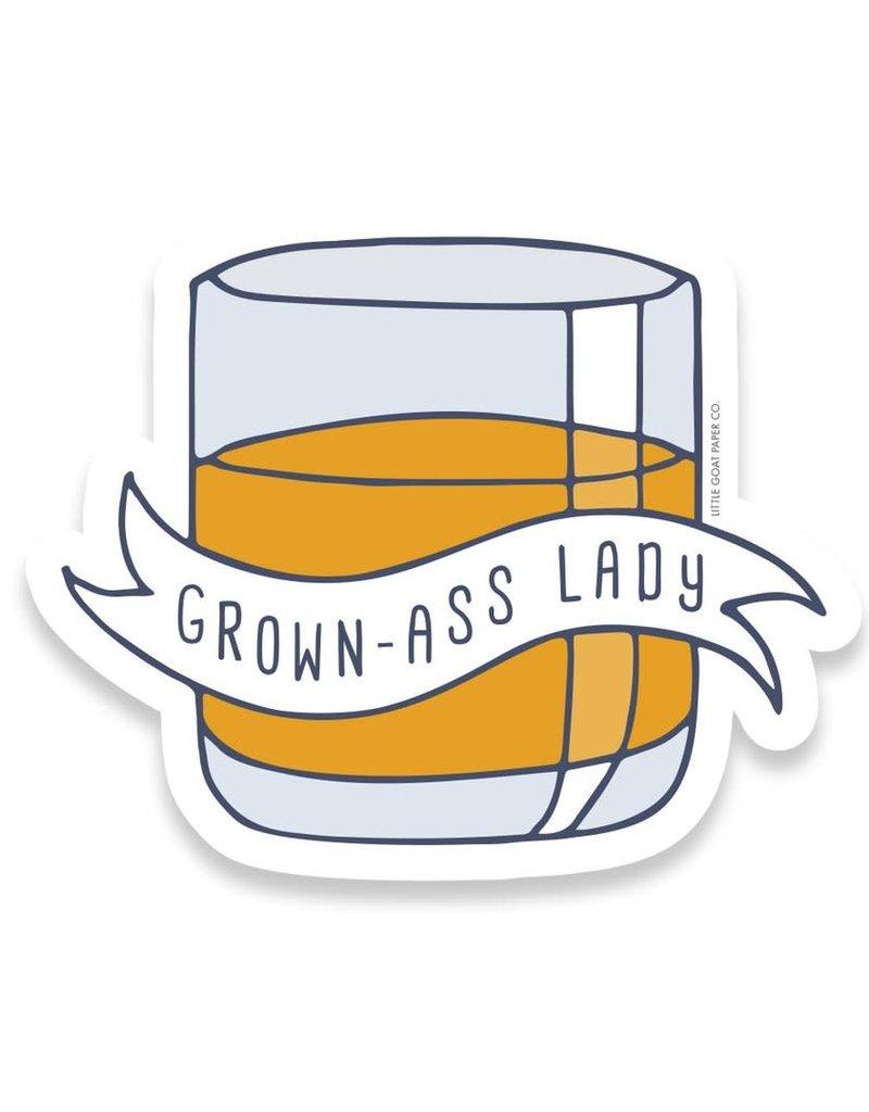 Little Goat Paper Co. Grown-Ass Lady Sticker