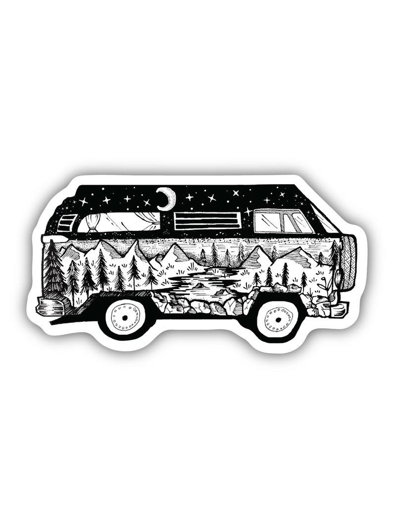 Stickers Northwest Bus Scene Sticker