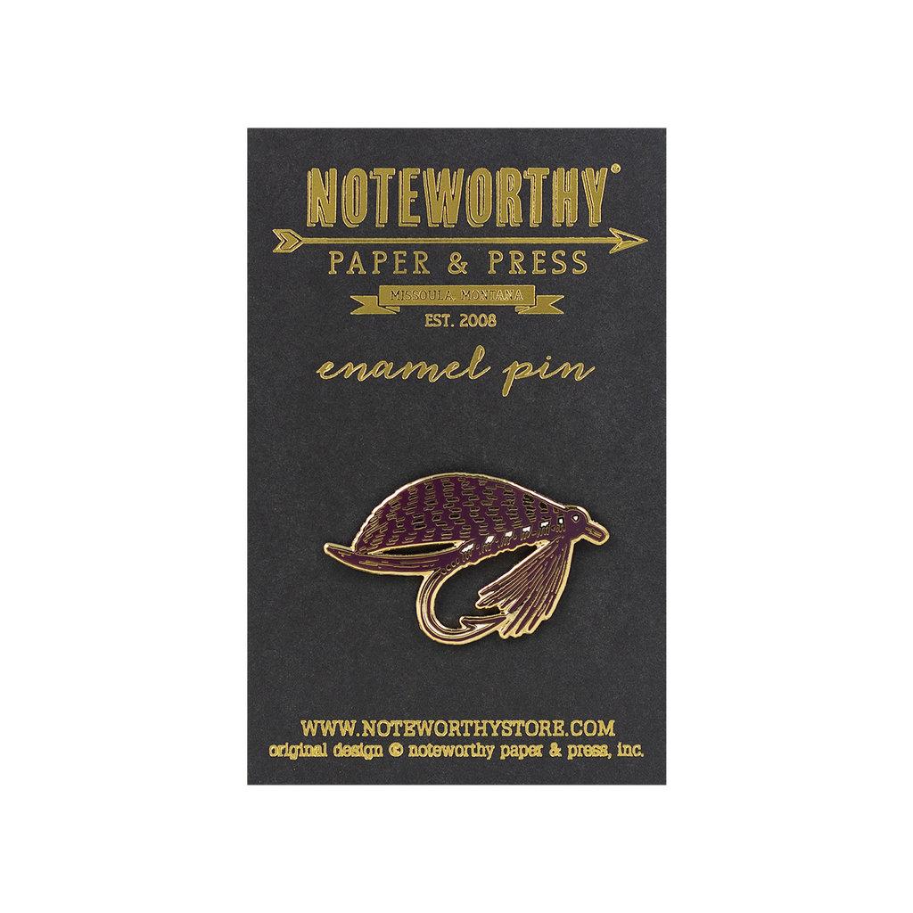 Noteworthy Fishing Fly Enamel Pin