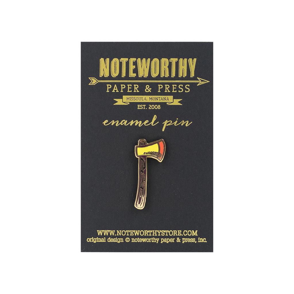 Noteworthy Axe Enamel Pin