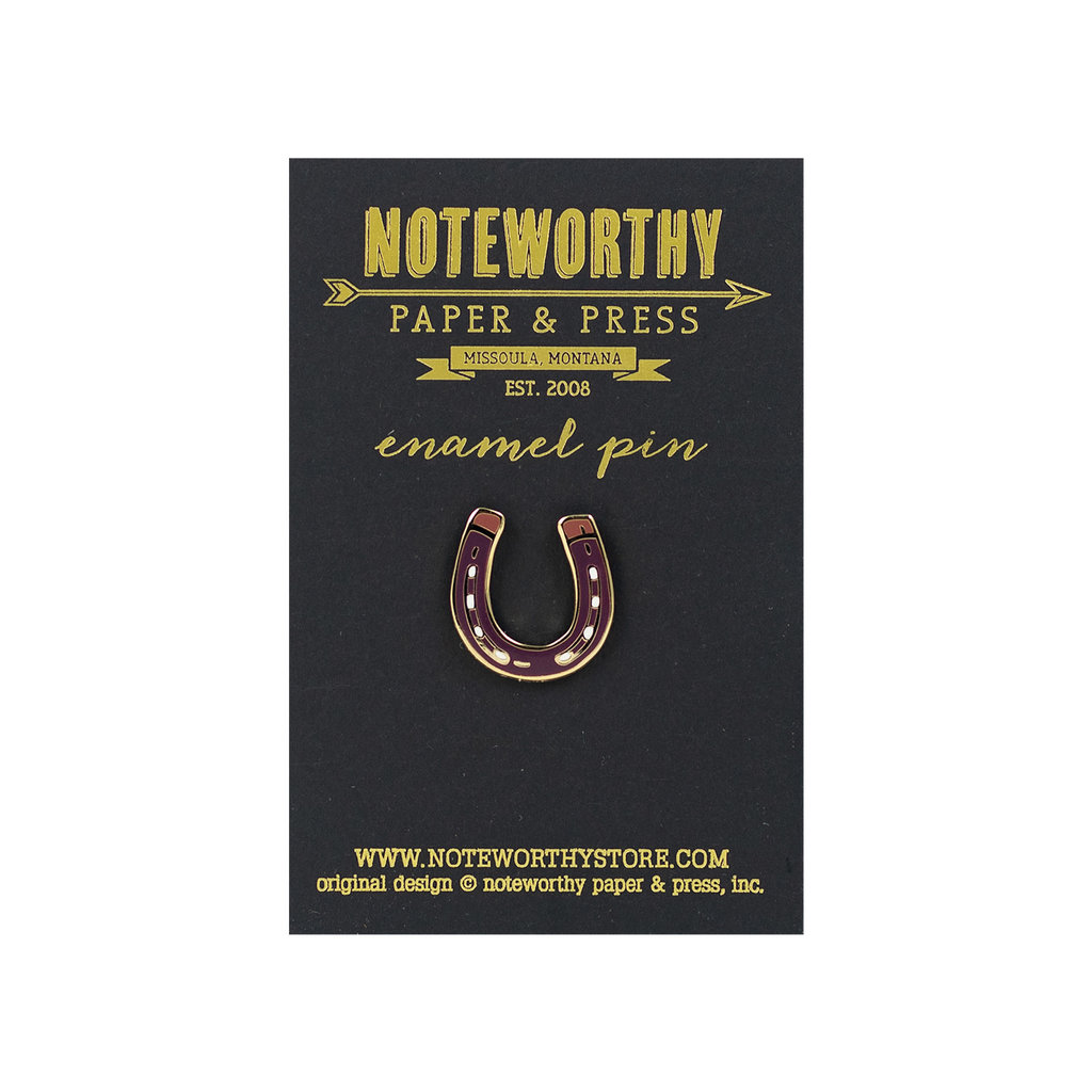Noteworthy Horseshoe Enamel Pin