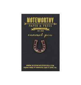 Noteworthy Horseshoe Enamel Pin