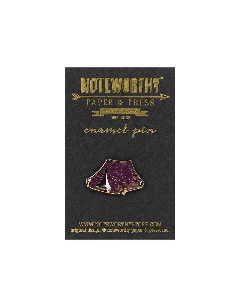 Noteworthy Tent Enamel Pin