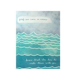 Maija Rebecca Hand Drawn Grief Waves Greeting Card