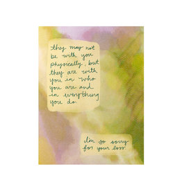 Maija Rebecca Hand Drawn Sorry for Your Loss Greeting Card