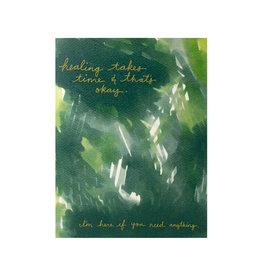 Maija Rebecca Hand Drawn Healing Takes Time Greeting Card
