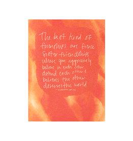 Maija Rebecca Hand Drawn Fierce Friendship Greeting Card